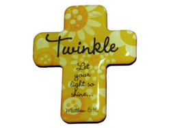 Category: Dropship Religious, SKU #BG049-40, Title: 4pk twinkle cross magnets ( Case of 40 )