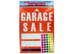 Category: Dropship School & Office Supplies, SKU #GL190-96, Title: Garage Sale Sign and Sticker Set ( Case of 96 )