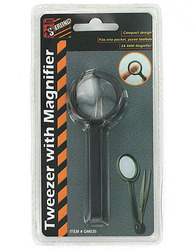 Category: Dropship School & Office Supplies, SKU #GM035-96, Title: Tweezers with Magnifier ( Case of 96 )