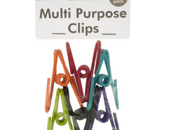 Category: Dropship School & Office Supplies, SKU #HA275-72, Title: Plastic Coated Multi-Purpose Clips ( Case of 72 )
