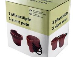 Category: Dropship Lawn & Garden, SKU #HX445-48, Title: Tie On Pipe Flower Pots Set ( Case of 48 )
