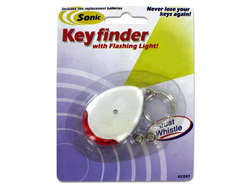 Category: Dropship Gifts, SKU #KC097-144, Title: Sonic Key Finder Key Chain with Flashing Light ( Case of 144 )
