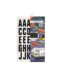 Category: Dropship School & Office Supplies, SKU #MA105-96, Title: Adhesive Plastic Block Letters ( Case of 96 )
