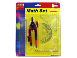 Category: Dropship School & Office Supplies, SKU #MO010-96, Title: Math Measuring Set with Pencil ( Case of 96 )