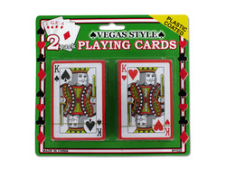 pearlbedding Plastic Coated Poker Size Playing Cards Set ( Case of 72 )