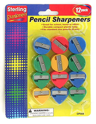 Category: Dropship School & Office Supplies, SKU #OP008-96, Title: Fun Shape Pencil Sharpeners ( Case of 96 )