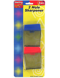 Category: Dropship School & Office Supplies, SKU #OP103-96, Title: Two-Hole Pencil Sharpener Set ( Case of 96 )