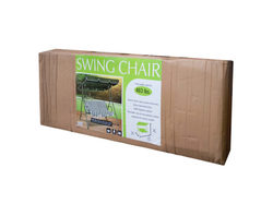 Category: Dropship Lawn & Garden, SKU #OS233-2, Title: Canopied Green Striped Swing Chair ( Case of 2 )
