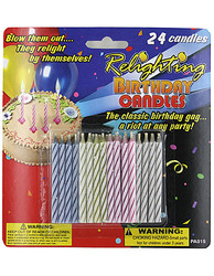 Category: Dropship Party Supplies, SKU #PA015-96, Title: Relighting Birthday Candles ( Case of 96 )