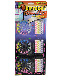 Category: Dropship Party Supplies, SKU #PA046-96, Title: Birthday Candle Set with Holders ( Case of 96 )