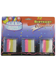 Category: Dropship Party Supplies, SKU #PB081-72, Title: Birthday Candle Set ( Case of 72 )