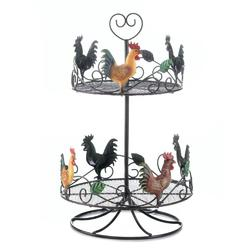 Category: Dropship Kitchenware, SKU #10017558, Title: Rooster 2 Tier Countertop Rack