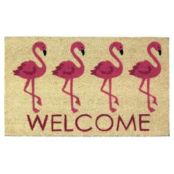 Category: Dropship Doormat, SKU #10018123, Title: Flamingo Welcome Mat