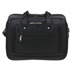 Category: Dropship Travel & Bags, SKU #CA-H-9003BK, Title: Laptop soft Leatherette Briefcase