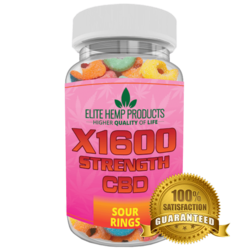 Category: Dropship Groceries, SKU #EG139, Title: Hemp Gummy Sour Rings X1600 Strength