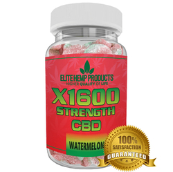 Category: Dropship Groceries, SKU #EG140, Title: Elite CBD Gummies CBD Infused Watermelon x1600 Strength
