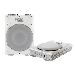 Category: Dropship Marine, SKU #PLMRBS10, Title: 10'' 1000 Watts Low-Profile Super Slim Active Amplified Marine/Waterproof Subwoofer System