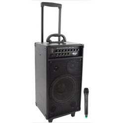 Category: Dropship Musical Instruments, SKU #RBPWMA1080I, Title: 800 Watt VHF Wireless Portable PA System/Echo w/iPod Dock