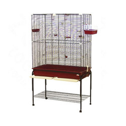 Category: Dropship Pet Supplies, SKU #411074, Title: Marchioro Delfi 102 Birdcage with Stand for Small Birds (73.3 x 47.3 x 22.8)