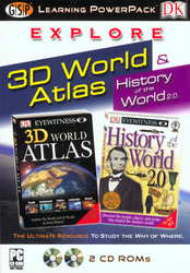 Category: Dropship Education & Reference, SKU #43301, Title: Explore 3D World Atlas Learning Power Pack