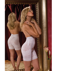 Category: Dropship Lingerie, SKU #RGO6207-WH-7X, Title: Rago Shapewear High Waist Long Leg Shaper White 7X