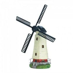 dropshipping Solar Powered Windmill Lighthouse (pack Of 1 Ea)
