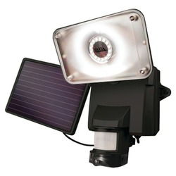 Category: Dropship Garden/outdoor Decor, SKU #RA37370, Title: Maxsa Innovations Solar-powered Security Video Camera & Floodlight (pack of 1 Ea)