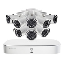 Category: Dropship Observation & Security, SKU #RA52670, Title: Lorex 4k Ultra Hd 8-channel Security System With 2 Tb Nvr And 8 Super Hd 5.0-megapixel Bullet Security Cameras With Color Night Vision And Smart Home Voice Control (pack of 1 Ea)