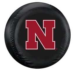 Category: Dropship Types, SKU #2324548393, Title: Nebraska Cornhuskers Tire Cover Large Size Black