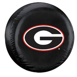 Fremont Die Georgia Bulldogs Black Tire Cover - Size Large