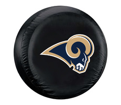 Category: Dropship Types, SKU #2324598341, Title: Los Angeles Rams Tire Cover Large Size Black