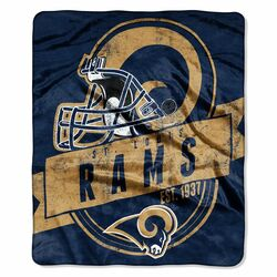 Category: Dropship Closeout Items, SKU #8791823165, Title: Los Angeles Rams Blanket 50x60 Raschel Grandstand Design St. Louis Throwback