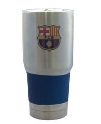 Category: Dropship Obsolete, SKU #8886051883, Title: Barcelona Football Club Travel Tumbler 30oz Ultra Silver