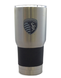 Category: Dropship Closeout Items, SKU #8886051885, Title: Sporting Kansas City Soccer Club Travel Tumbler 30oz Ultra Silver