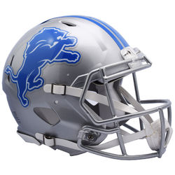 Category: Dropship Types, SKU #9585530984, Title: Detroit Lions Helmet Riddell Authentic Full Size Speed Style