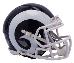 Category: Dropship Types, SKU #9585530985, Title: Los Angeles Rams Helmet Riddell Authentic Full Size Speed Style