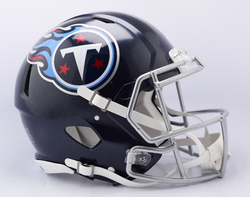 Category: Dropship Special Order, SKU #9585530988, Title: Tennessee Titans Helmet Riddell Authentic Full Size Speed Style 2018 Special Order
