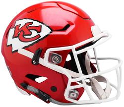 Category: Dropship Sports Fan, SKU #9585531001, Title: Kansas City Chiefs Helmet Riddell Authentic Full Size SpeedFlex Style