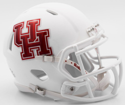 Category: Dropship Special Order, SKU #9585532889, Title: Houston Cougars Helmet Riddell Authentic Full Size Speed Style Matte White Special Order