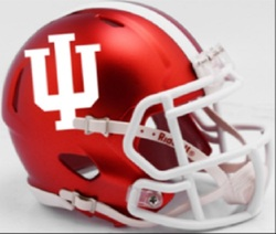 Category: Dropship Special Order, SKU #9585532925, Title: Indiana Hoosiers Helmet Riddell Authentic Full Size Speed Style
