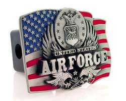Category: Dropship Military, Patriotic & Firefighter, SKU #TH8, Title: Trailer Hitch - Air Force