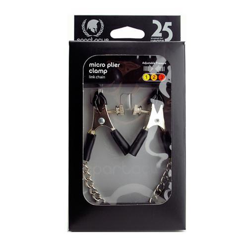 Nipple Clamps Adj W/Curbed Chain