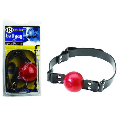 Rubber Ball Gag (Red)