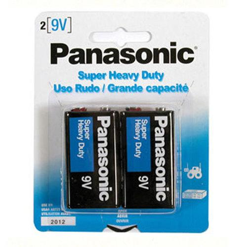 Panasonic 9 Volt Batteries (2pk)
