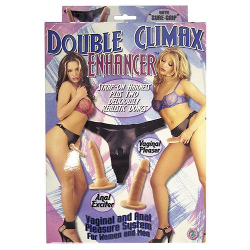 Double Climax Enhancer Harness & Dongs