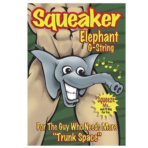 MP Novelty Squeaker Elephant Gst Blk 1SZ