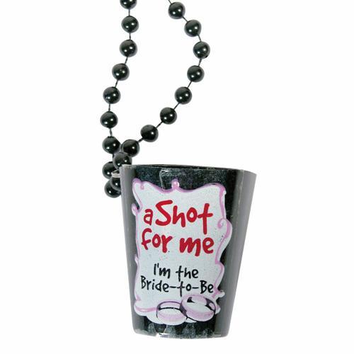 Bachelorette Shotglass Necklace (Black)