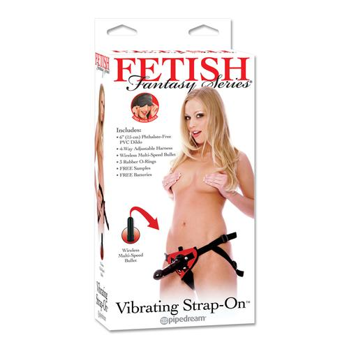 FF Vibrating Strap-On Set Red