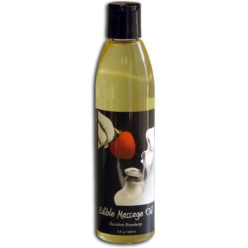 EB Edible Massage Oil 8oz Strawberry