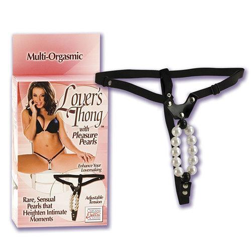 Lovers Thong W/pleasure Pearls